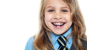 young girl with oral appliance