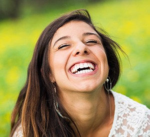 Laughing woman with beautiful smile